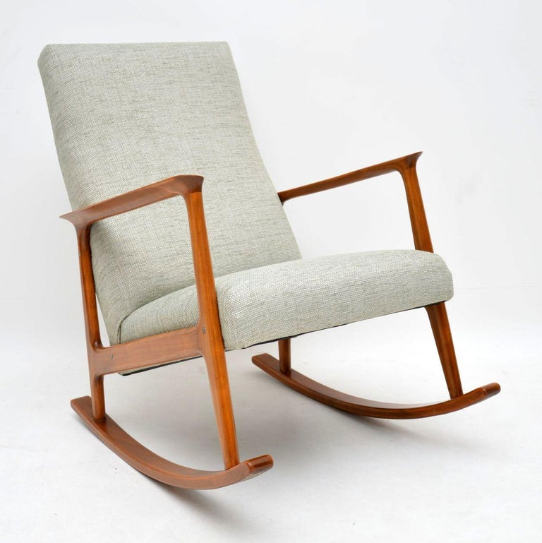 Swell 1960S Danish Cherrywood Vintage Rocking Chair Gmtry Best Dining Table And Chair Ideas Images Gmtryco