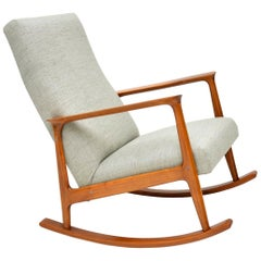 1960s Danish Cherrywood Vintage Rocking chair