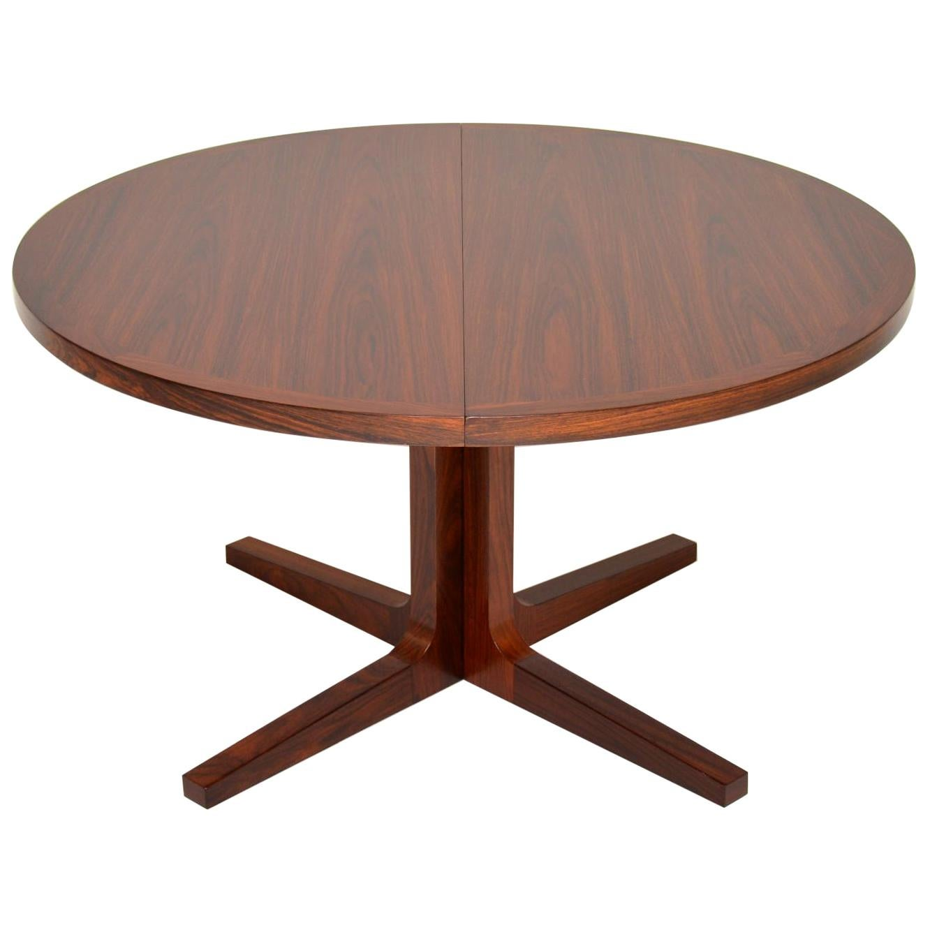 1960s Danish Extending Dining Table by Dyrlund
