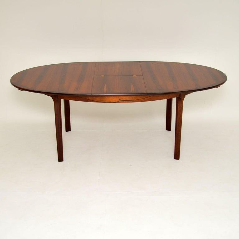 Mid-20th Century 1960's Danish Extending Dining Table For Sale