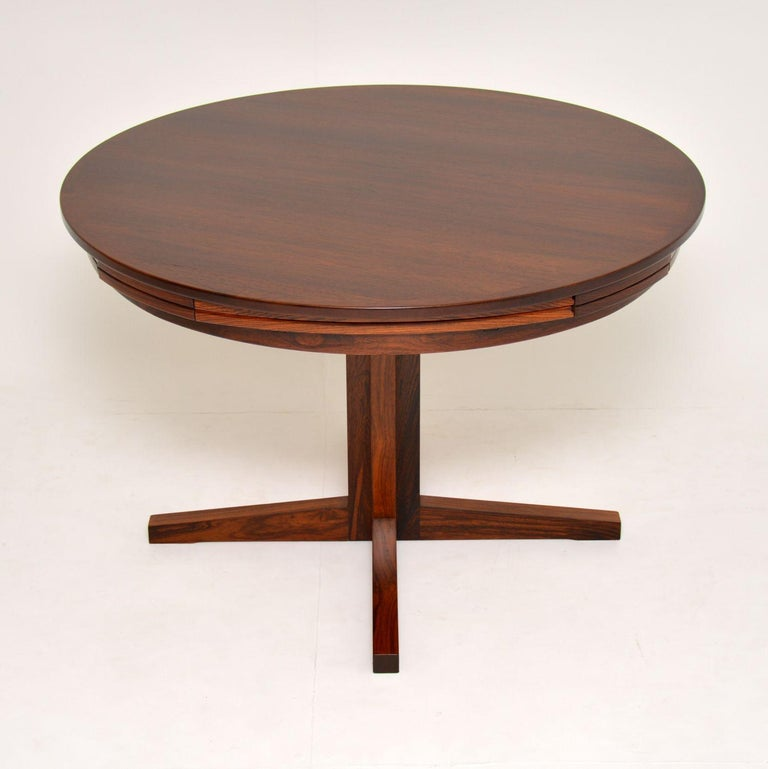 Mid-Century Modern 1960s Danish Flip Flap Lotus Dining Table by Dyrlund