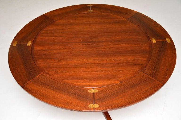 20th Century 1960s Danish Flip Flap Lotus Dining Table by Dyrlund