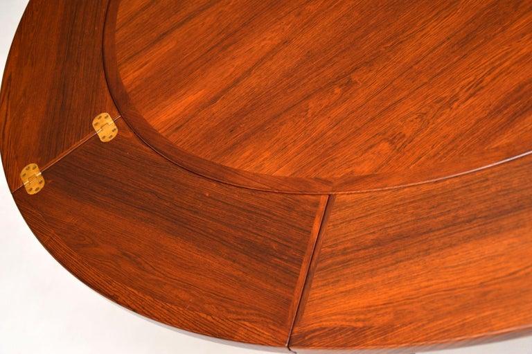 1960s Danish Flip Flap Lotus Dining Table by Dyrlund 1