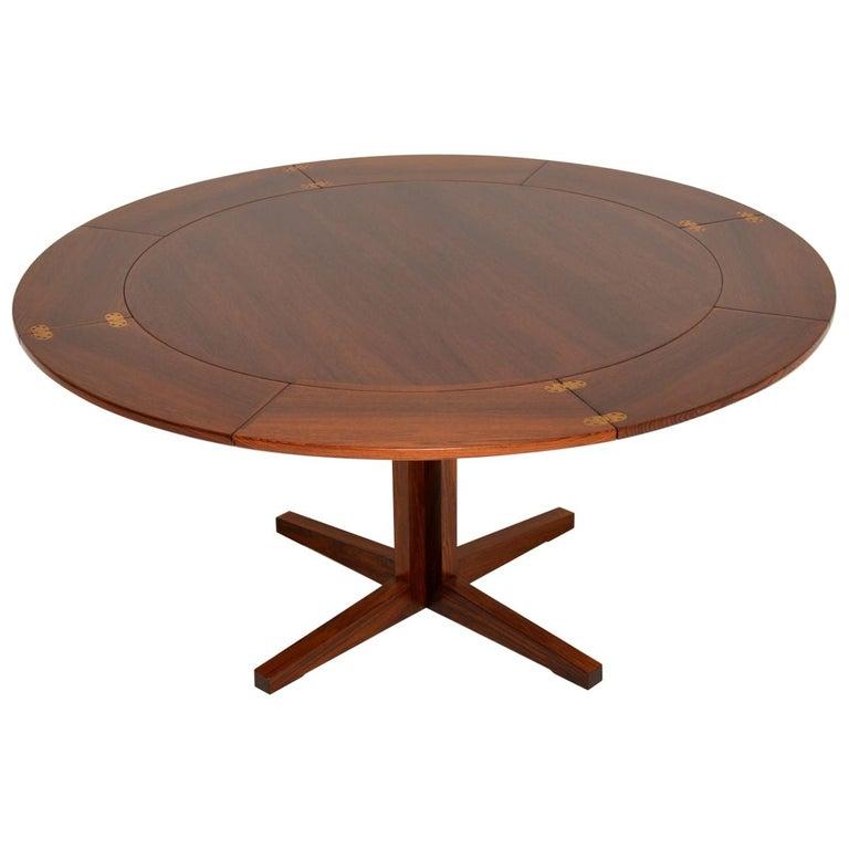 1960s Danish Flip Flap Lotus Dining Table by Dyrlund
