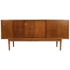 1960s Danish Freestanding Oak Sideboard