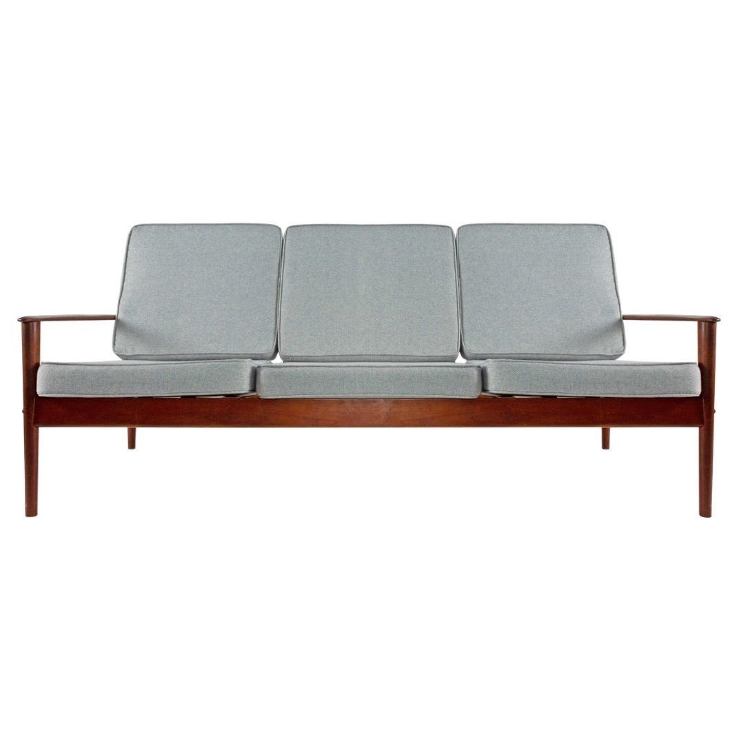 1960s Danish Gray Three-Seat Sofa