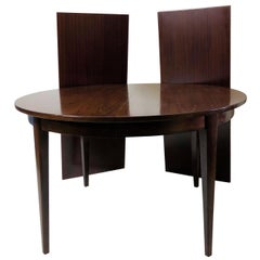 1960s Danish Gunni Omann Extendable Dining Table in Rosewood by Omann Jun