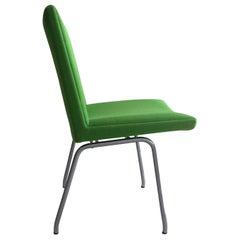 1960s Danish Hans J. Wegner Airport Chair, Reupholstered in Green Fabric