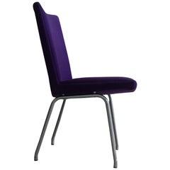 1960s Danish Hans J. Wegner Airport Chair, Reupholstered in Purple Fabric