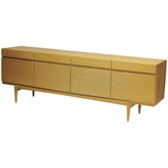 1960s Danish Low Sideboard in Oak by Ib Kofod-Larsen Faarup Mobelfabrik