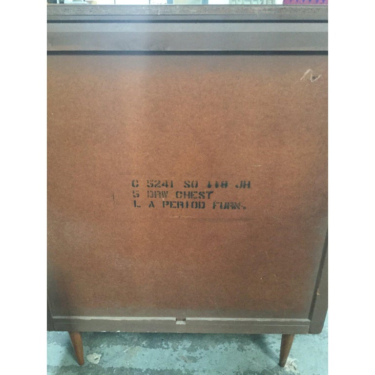 1960s Danish Mid-Century Modern 5-Drawer Dresser For Sale 2