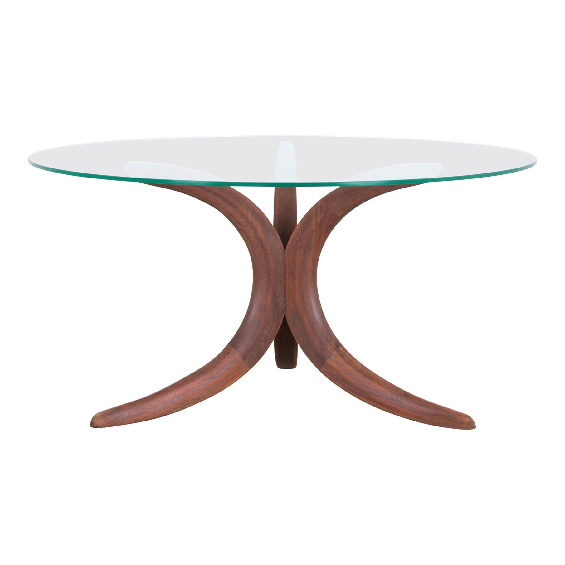 1960s Danish Modern Glass Coffee Table