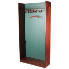 1960s Danish Modern Tall Wardrobe / Entry Piece / Hall Stand in Rosewood