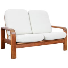 1960s Danish Modern Wooden Sofa