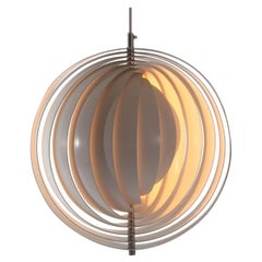 "1960s Danish ""Moon"" Ceiling Lamp by Verner Panton for Louis Poulsen"