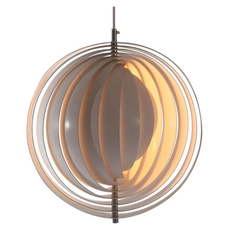 "1960s Danish ""Moon"" Ceiling Lamp by Verner Panton for Louis Poulsen For Sale"
