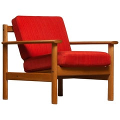 1960s Danish Oak Volther Style Lounge Easy Chair 1