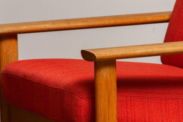 1960s Danish Oak Volther Style Lounge Easy Chair In Good Condition For Sale In Silvolde, Gelderland