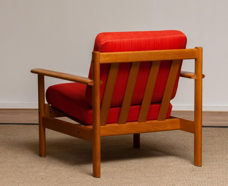 Mid-20th Century 1960s Danish Oak Volther Style Lounge Easy Chair For Sale