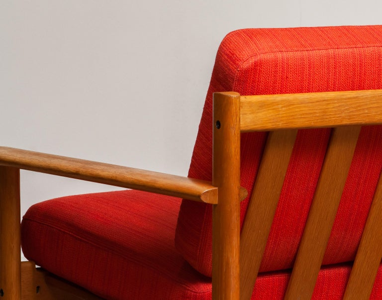 1960s Danish Oak Volther Style Lounge Easy Chair For Sale 1