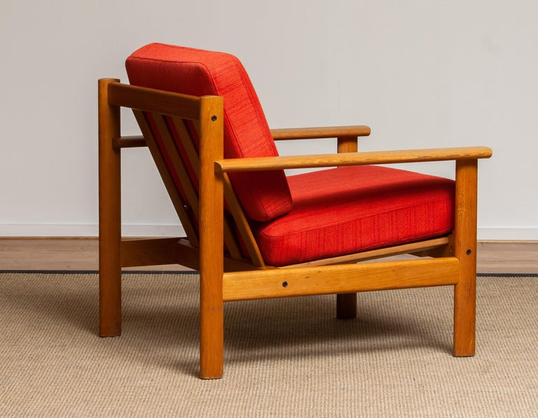 1960s Danish Oak Volther Style Lounge Easy Chair For Sale 2