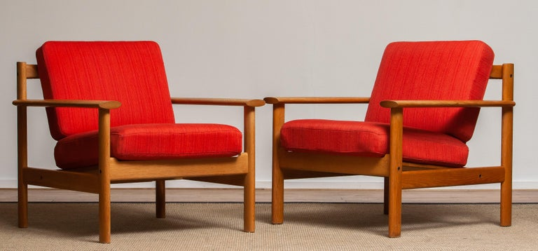 1960s Danish Oak Volther Style Lounge Easy Chair For Sale 4