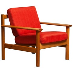 1960s Danish Oak Volther Style Lounge Easy Chair