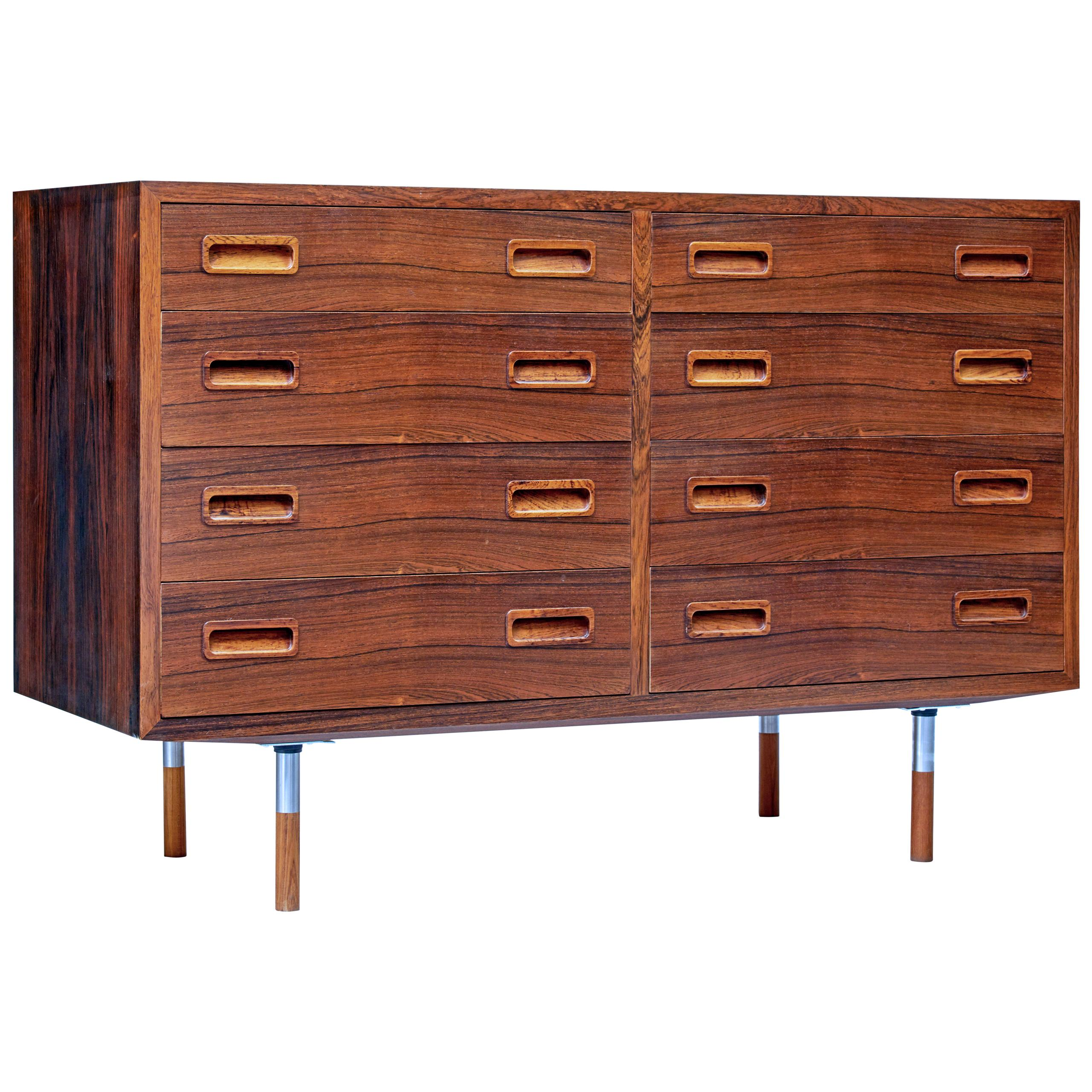 1960s Danish Palisander Double Chest of Drawers