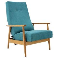 1960s Danish Reclining Beech Highback Chair