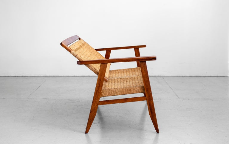 1960s Danish Rope Bench In Good Condition For Sale In Los Angeles, CA