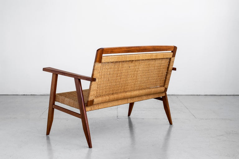 1960s Danish Rope Bench For Sale 1