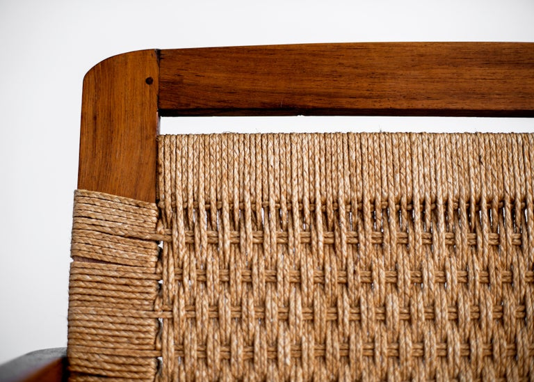 1960s Danish Rope Bench For Sale 2