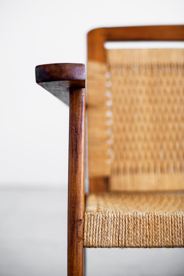 1960s Danish Rope Bench For Sale 3