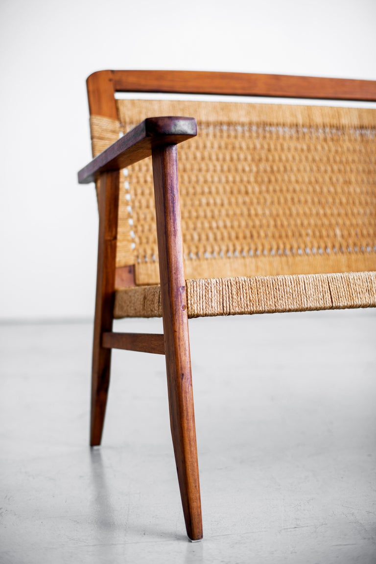 1960s Danish Rope Bench For Sale 4