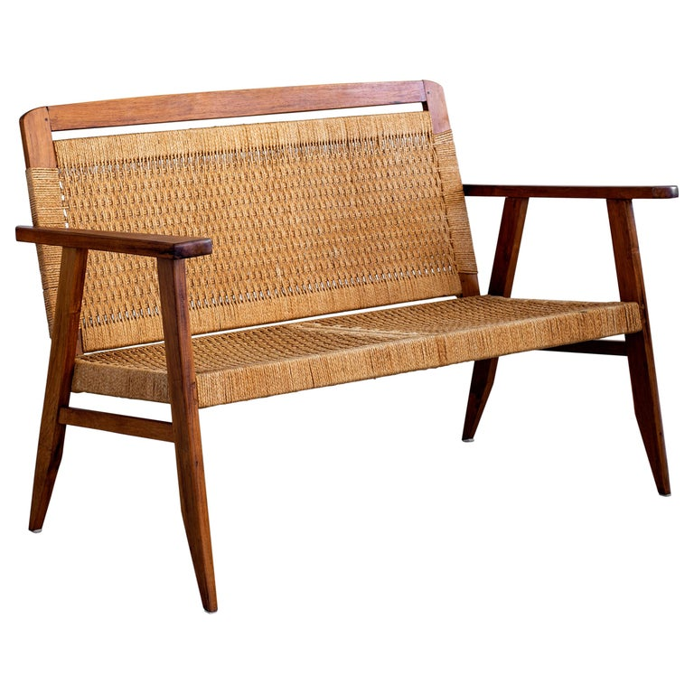 1960s Danish Rope Bench For Sale