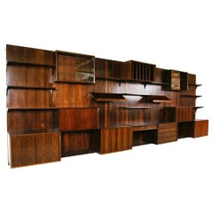 Rare 1960s Danish Rosewood 'Cado' Wall System by Poul Cadovius Midcentury Office