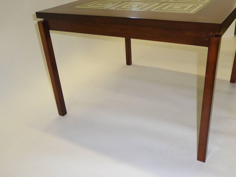 1960s Danish Rosewood Coffee Side Table with Nils Thorsson Tiles For Sale 2