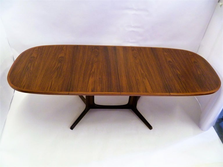 1960s Danish Rosewood Dining Table by Gudme Møbelfabrik For Sale 8
