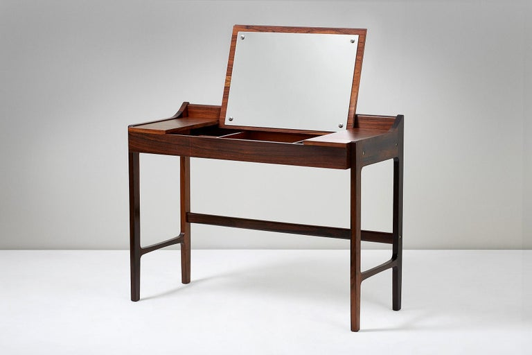 1960s Danish Rosewood Dressing Table For Sale 1