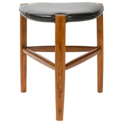 1960s Danish Rosewood Stool by Ole Wanscher for A.J. Iversen