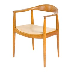 1960s Danish Round Chair by Hans J. Wegner for Johannes Hansen