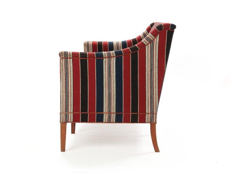 Scandinavian Modern 1960s Danish Sculpted Sofa by Kaare Klint for Rud Rasmussen For Sale