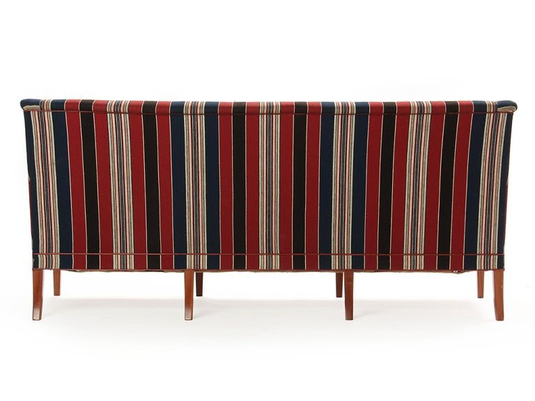 1960s Danish Sculpted Sofa by Kaare Klint for Rud Rasmussen In Good Condition For Sale In Sagaponack, NY