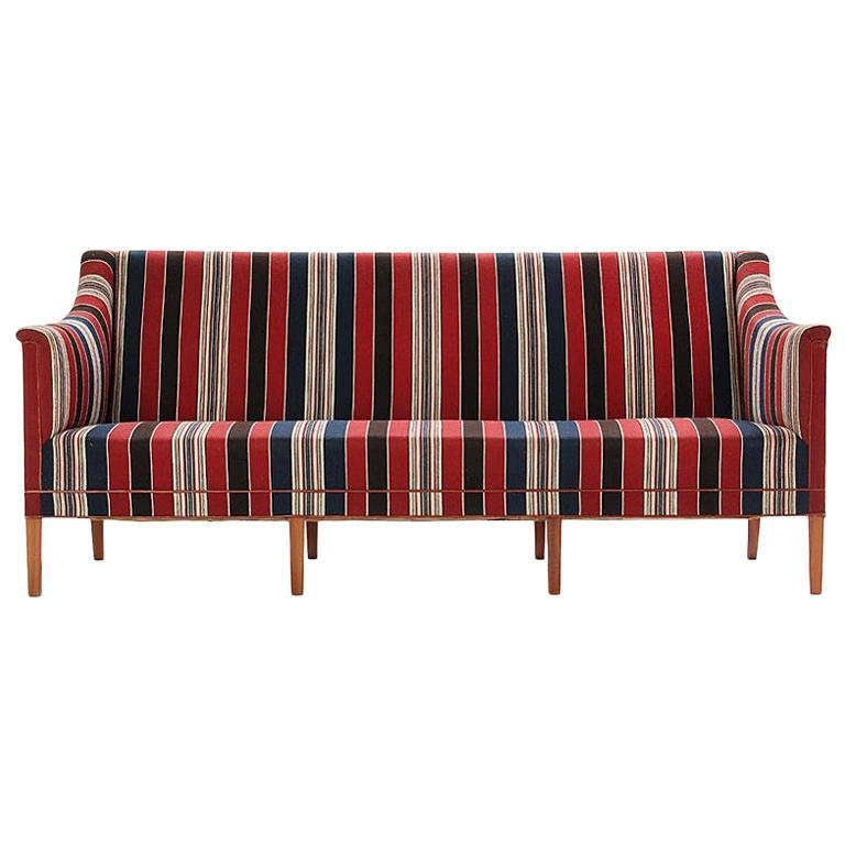 1960s Danish Sculpted Sofa by Kaare Klint for Rud Rasmussen For Sale