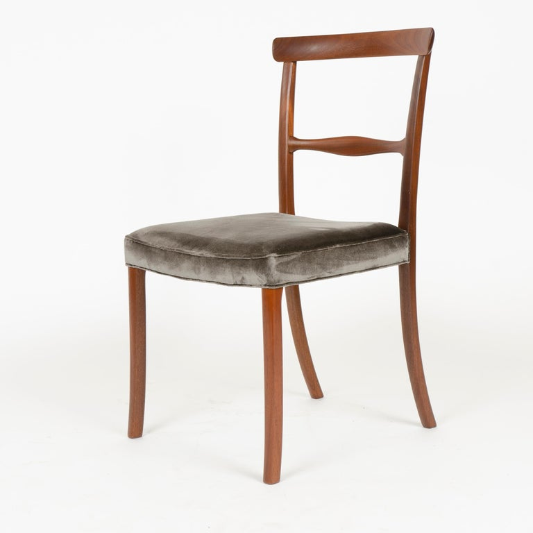 1960s Danish Set of 6 Dining Chairs by Ole Wanscher for A.J. Iversen In Good Condition For Sale In Sagaponack, NY