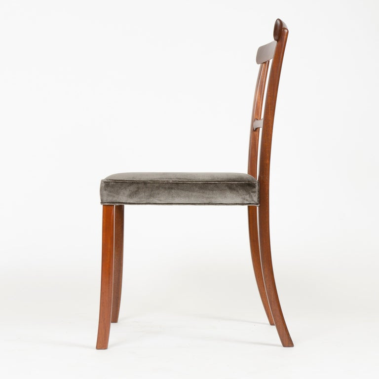 Mid-20th Century 1960s Danish Set of 6 Dining Chairs by Ole Wanscher for A.J. Iversen For Sale