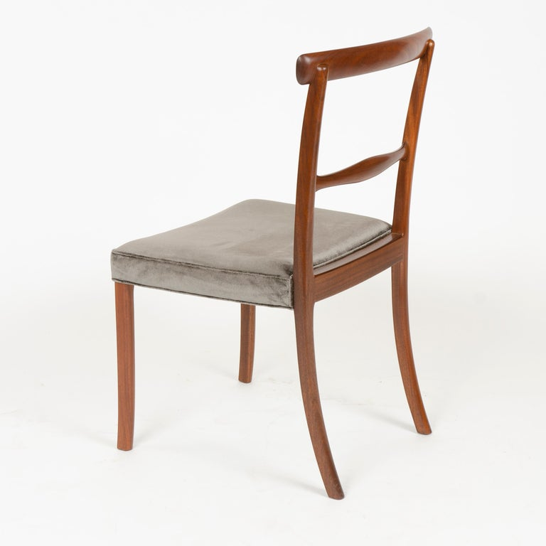 Rosewood 1960s Danish Set of 6 Dining Chairs by Ole Wanscher for A.J. Iversen For Sale