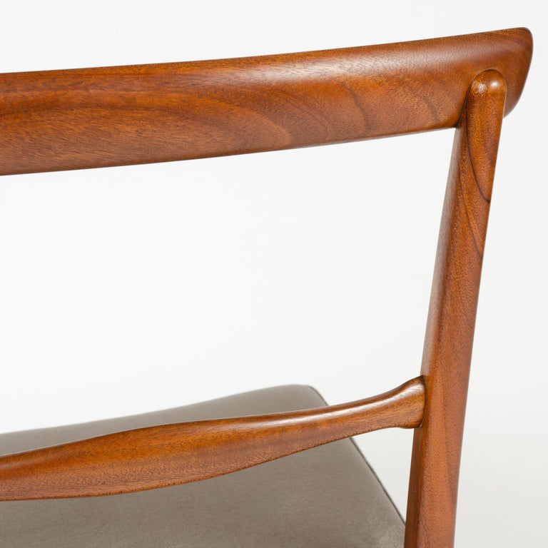 1960s Danish Set of 6 Dining Chairs by Ole Wanscher for A.J. Iversen For Sale 2
