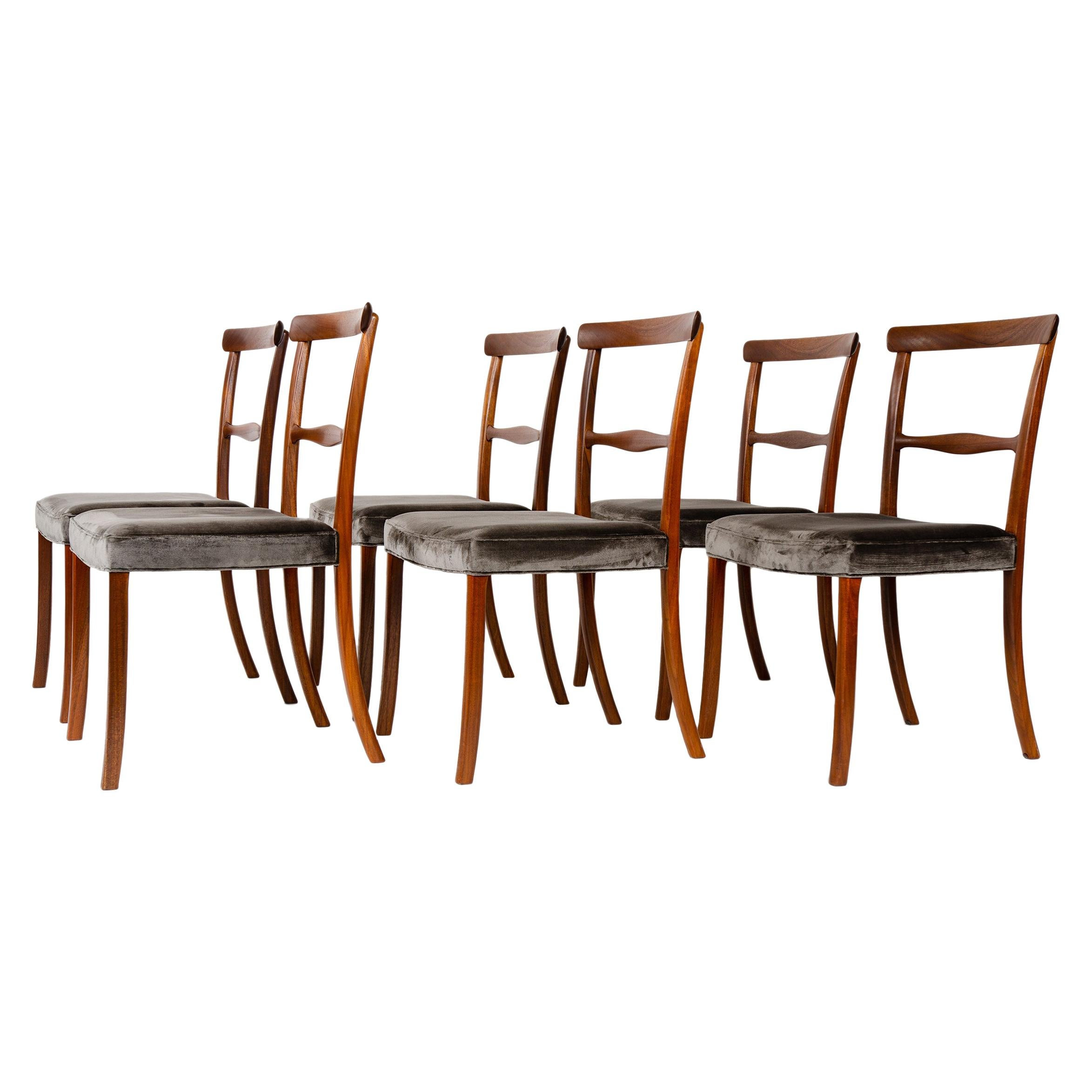 1960s Danish Set of 6 Dining Chairs by Ole Wanscher for A.J. Iversen