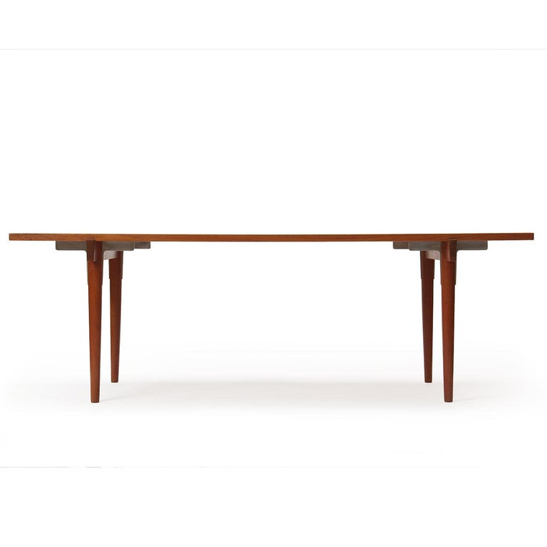 Scandinavian Modern 1960s Danish Solid Teak Table / Desk by Hans Wegner for Johannes Hansen For Sale